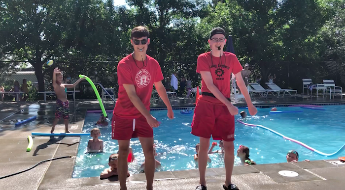Flossing Our Way to a Pool Party | Legacy Private School | Omaha