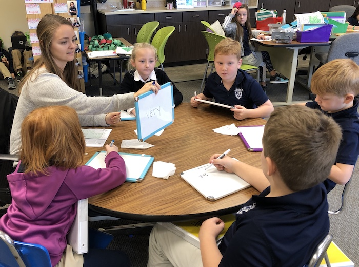 Teacher Delivering Material Through Differentiated Instruction