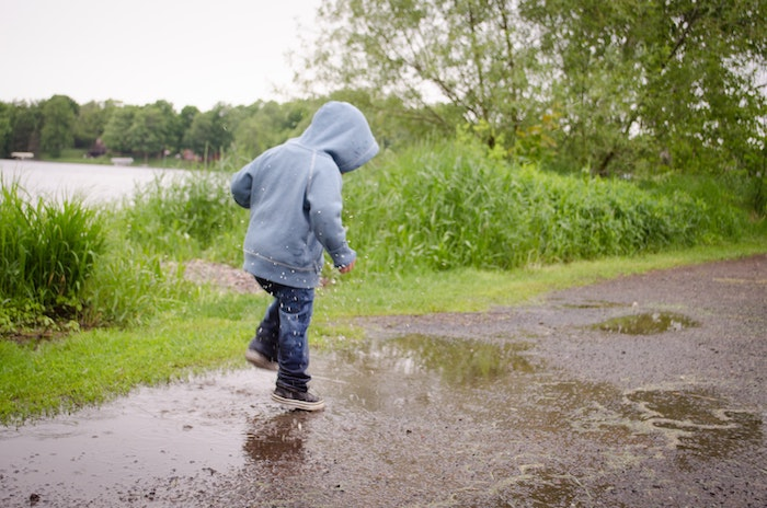 Nature Activities-Jumping in a Rain Puddle
