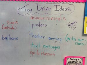 Toy Drive PBL Advertisting Ideas